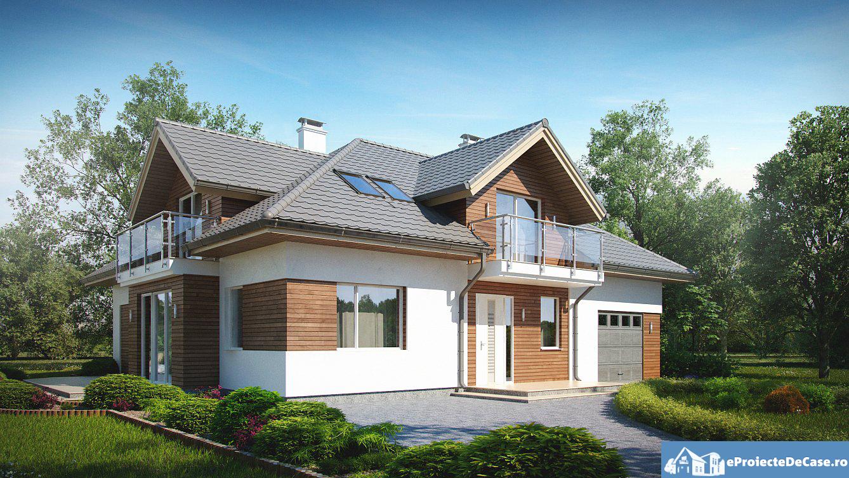 Proiect de casa cu mansarda 86