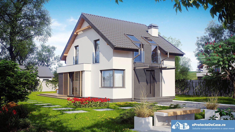 Proiect de casa cu mansarda 63