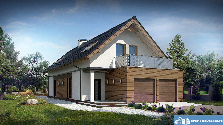 Proiect  de casa cu mansarda 81