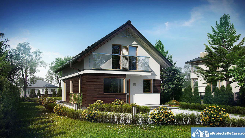 Proiect de casa cu mansarda 62