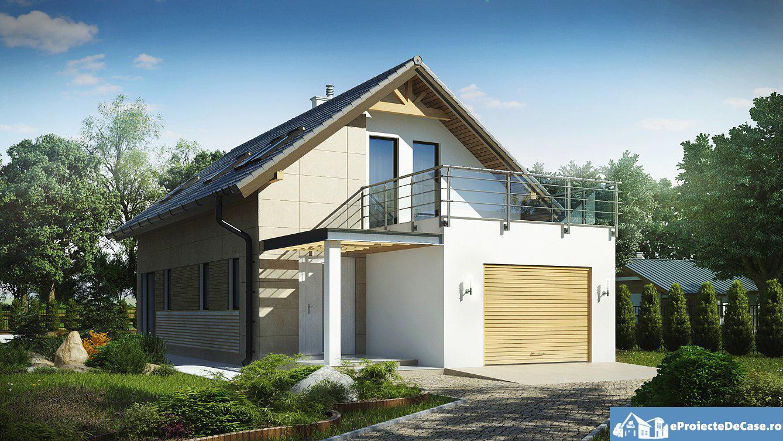 Proiect de casa cu mansarda 79