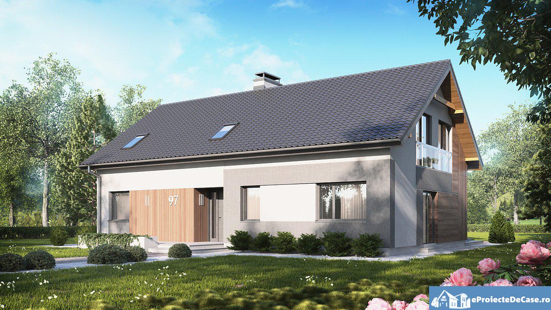 Proiect de casa cu mansarda 74