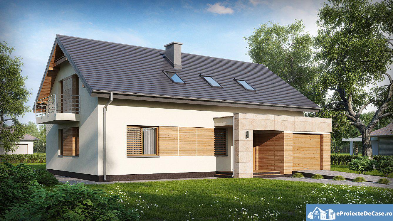 Proiect de casa cu mansarda 61