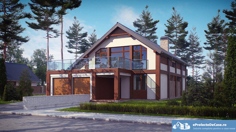 Proiect de casa cu mansarda 60