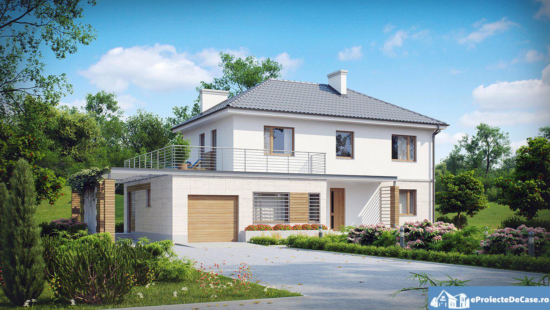 Proiect de casa cu doua etaje 77