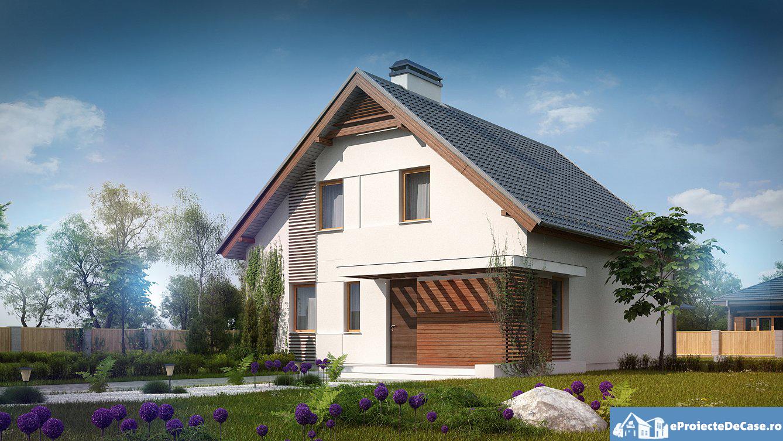 Proiect de casa cu mansarda 72