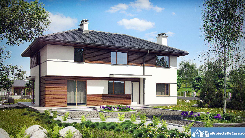 Proiect de casa cu etaj 21