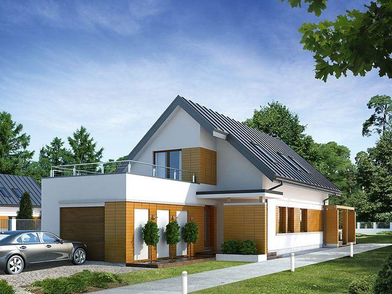 Proiect de casa cu mansarda si garaj 109