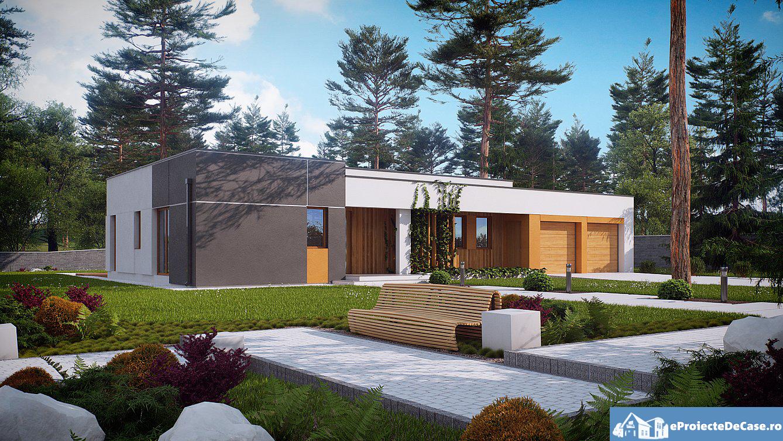 Proiect de casa cu parter si acoeris plat 270