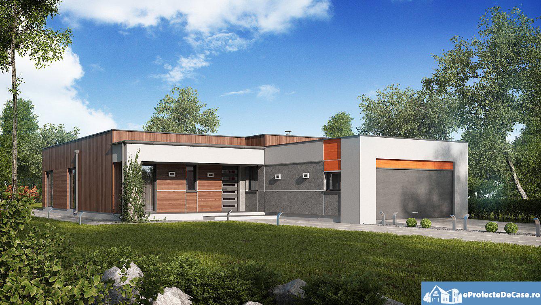 Proiect de casa cu parter si acoperis plat 275