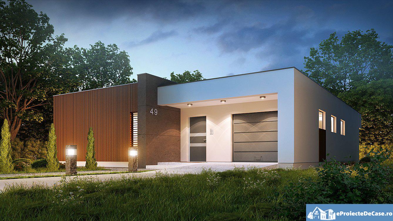 Proiect de casa cu parter si acoperis plat 277