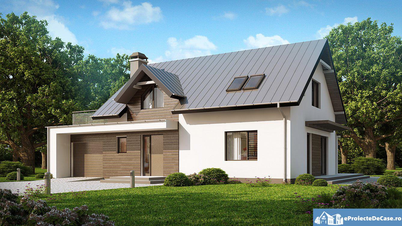 Proiect de casa cu mansarda 107