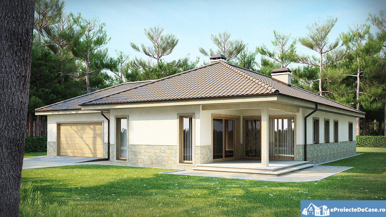 Proiect de casa cu parter si garaj pentru doua masini 294