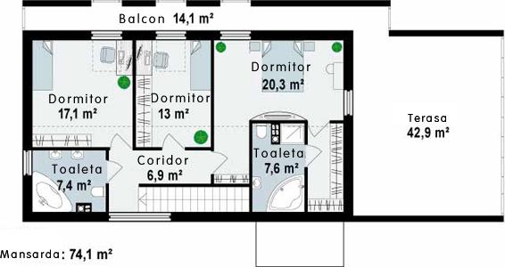 Proiect-de-casa-Parter-Mansarda-Garaj-e400113