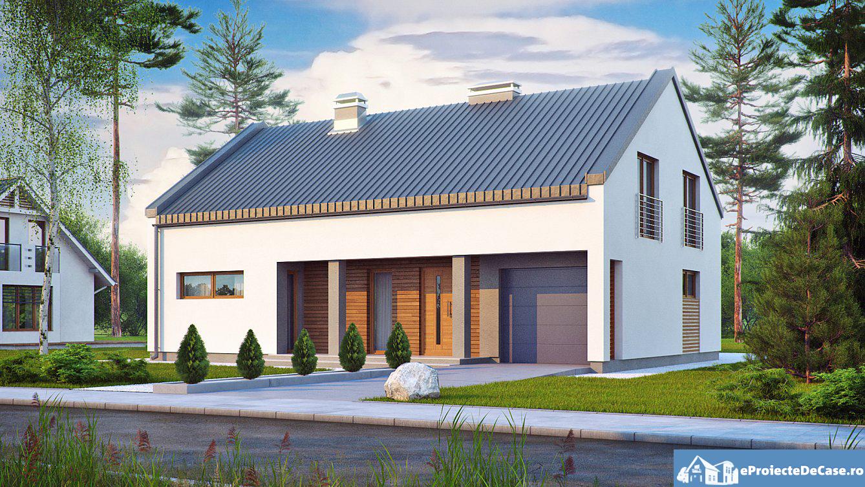 Proiect de casa cu mansarda 145
