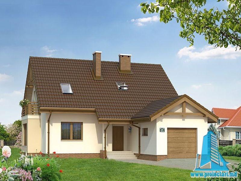 Proiect de casa cu mansarda113