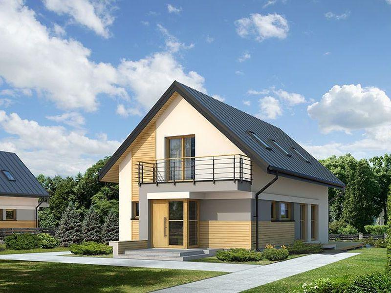 Proiect de casa cu mansarda 110