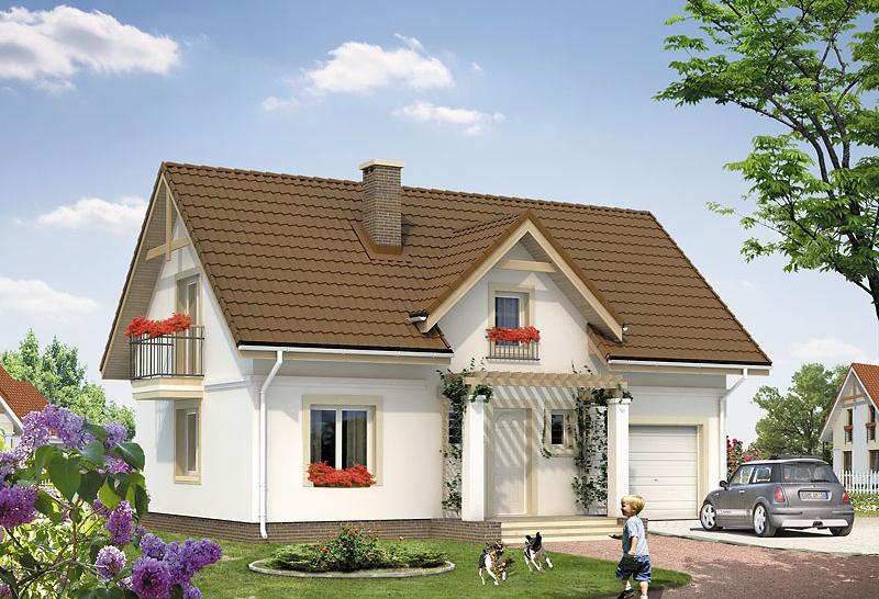 Proiect  de casa cu mansarda 117