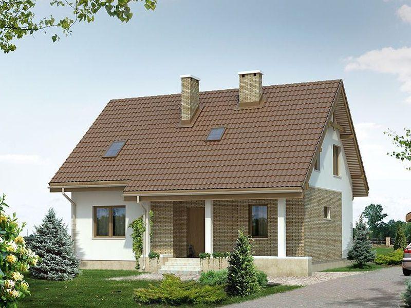 Proiect de casa cu mansarda 115