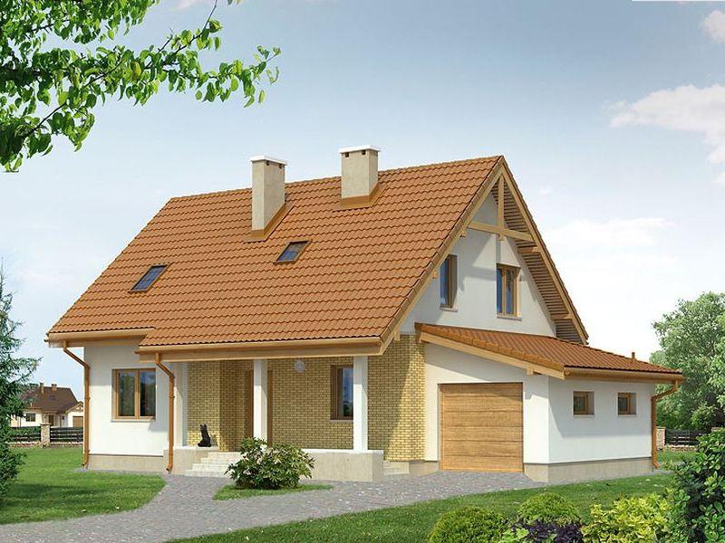 Proiect de casa cu mansarda 114