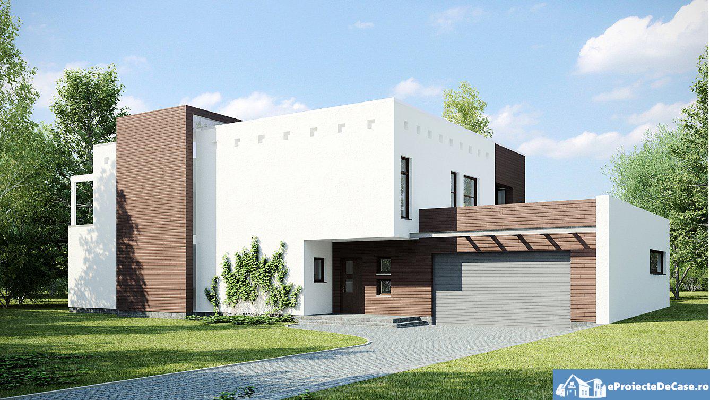 Proiect de casa cu 2 etaje si acoperis plat 39
