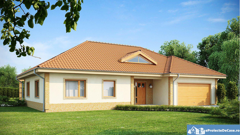 Proiect de casa cu mansarda si garaj pentru doua masini 291