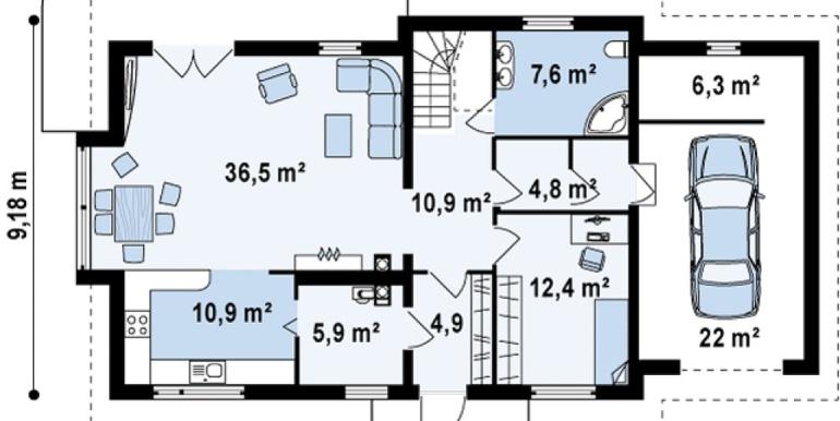 Proiect-de-casa-mare-Parter-Mansarda-Garaj-103011-parter