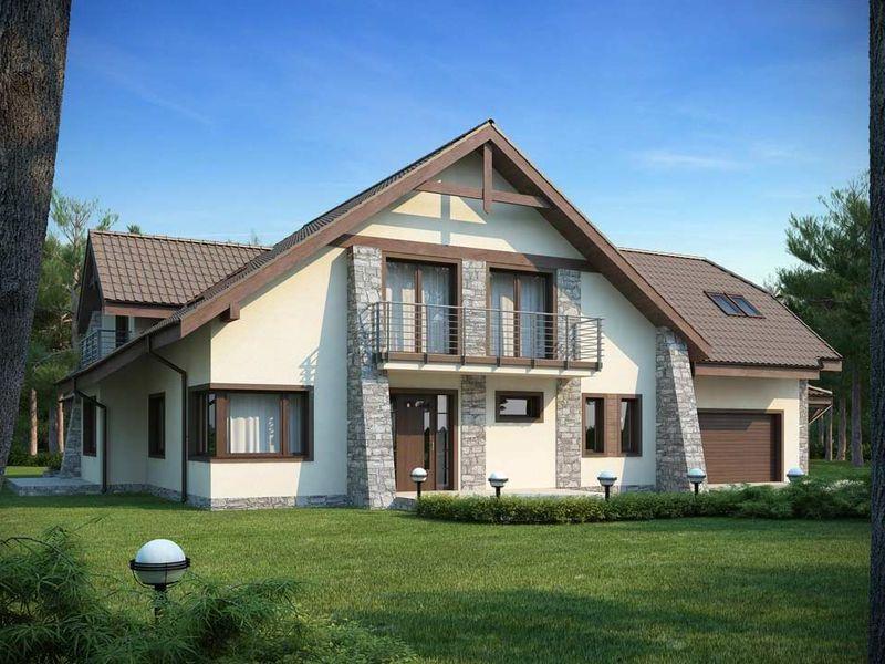 Proiect de casa cu mansarda 138