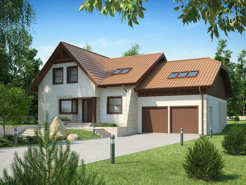 Proiect de casa cu mansarda 135