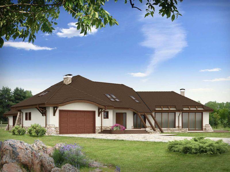 Proiect de casa cu mansarda 125