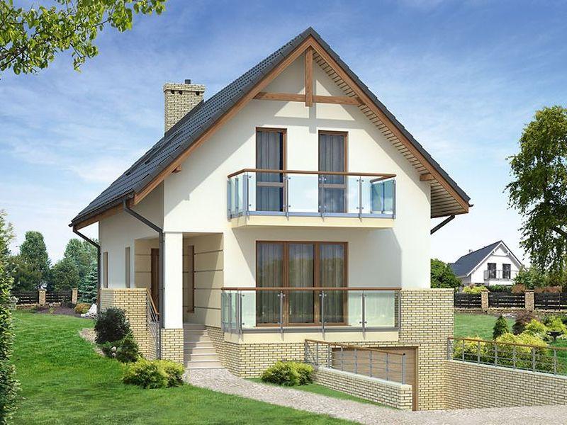 Proiect de casa cu mansarda 120