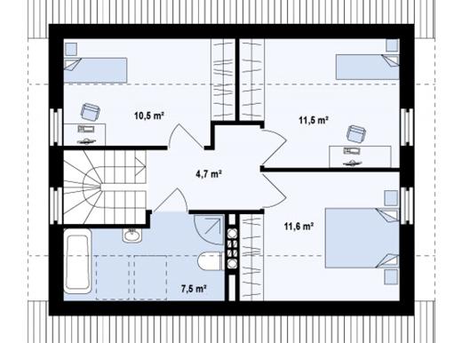 Proiect-de-casa-mica-Parter-55Mansarda-interior2-71011