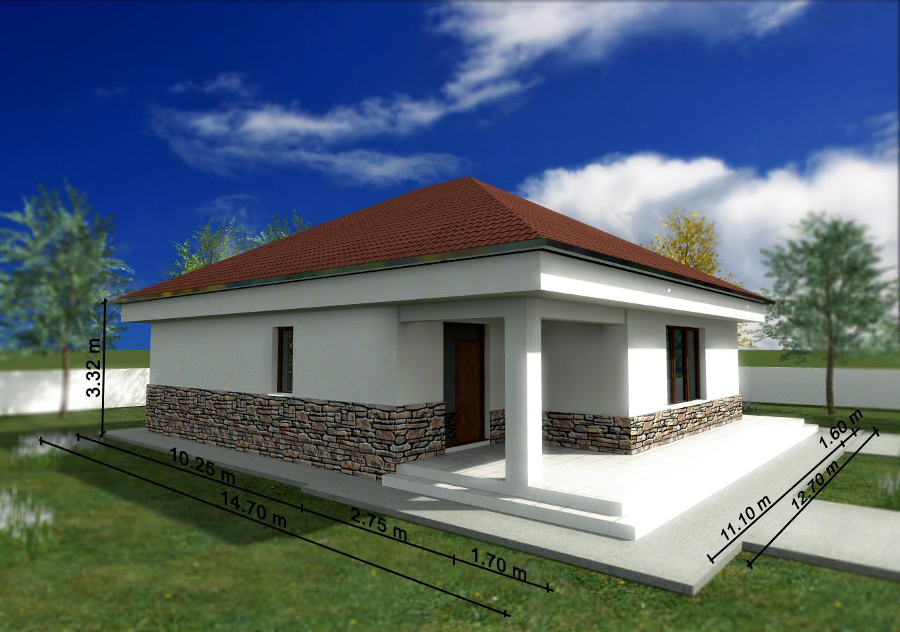 Proiect de casa cu parter 244