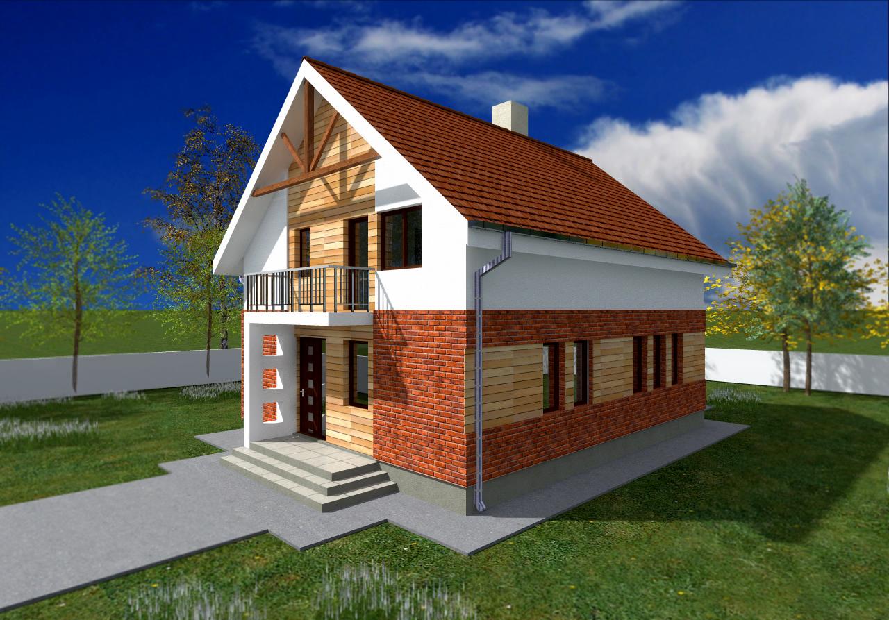 Proiect de casa cu mansarda 50