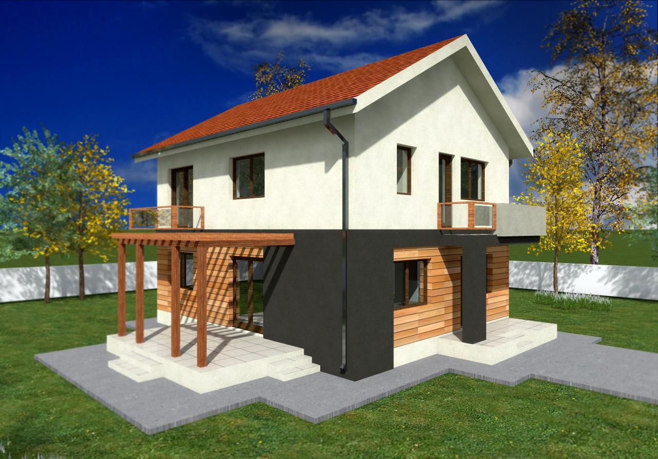 Proiect de casa cu parter, etaj -1003