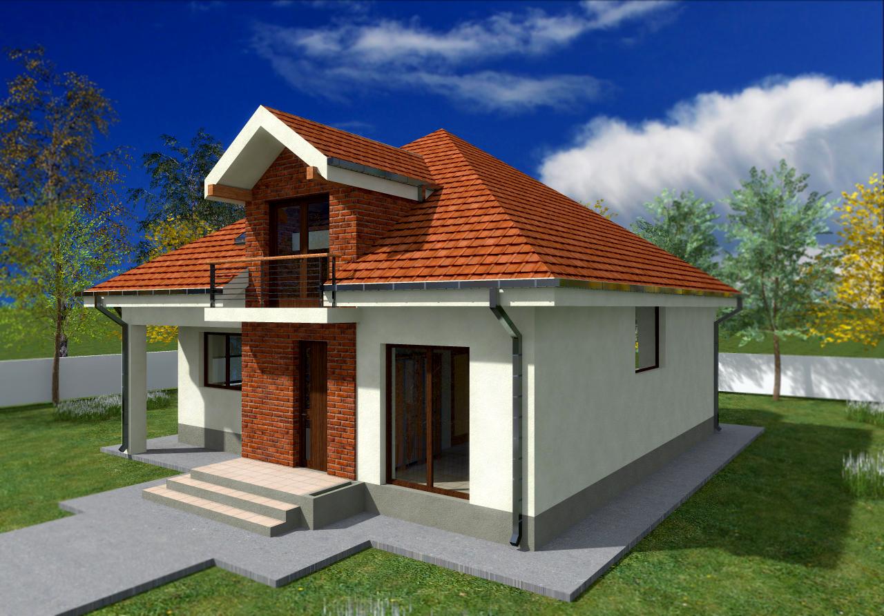 Proiect de casa cu mansarda 49