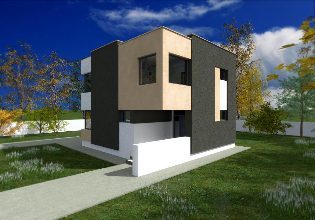Proiect de casa cu parte si etaj – 1006