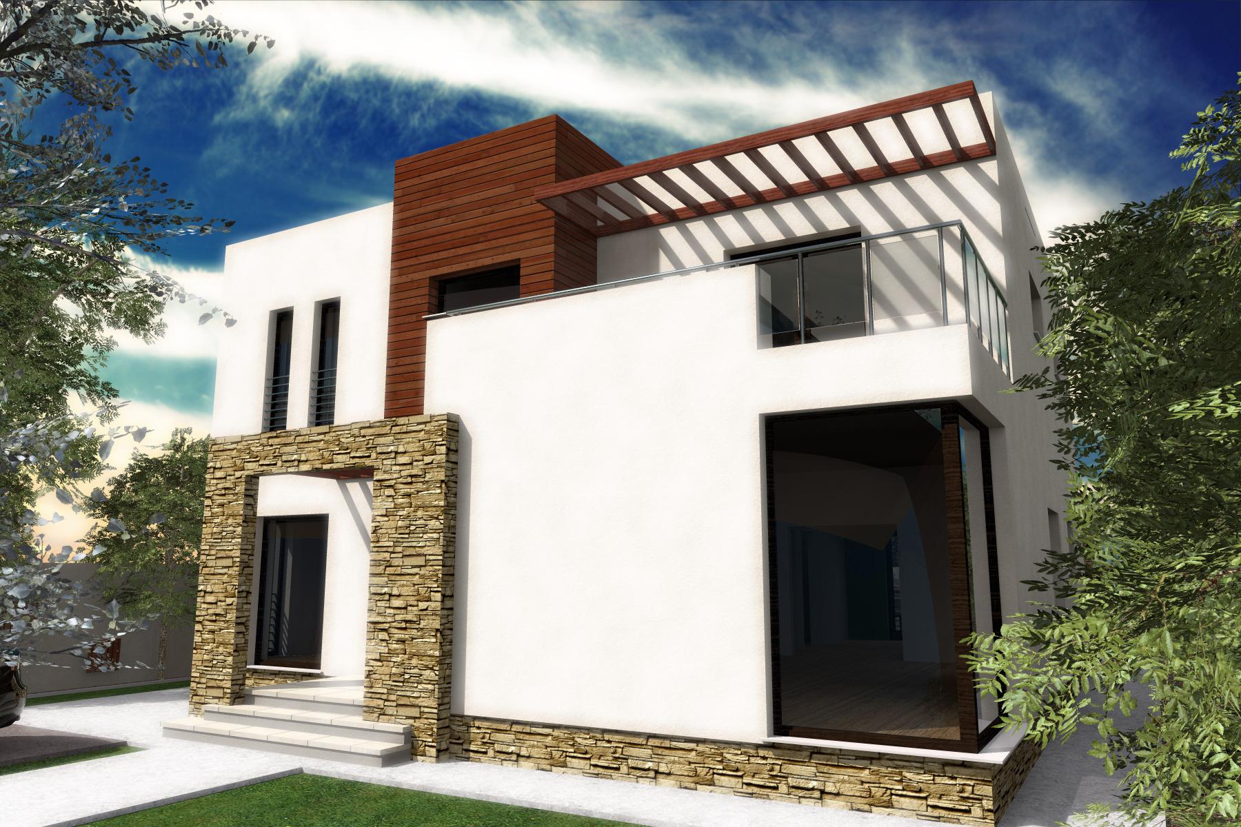Proiect de casa cu parter si etaj-1001
