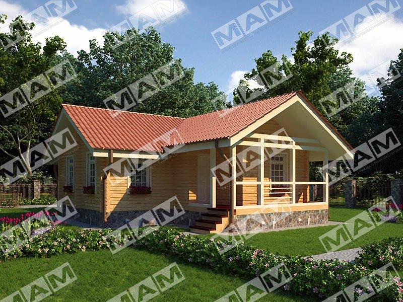 Proiect de Casa cu parter din lemn 331