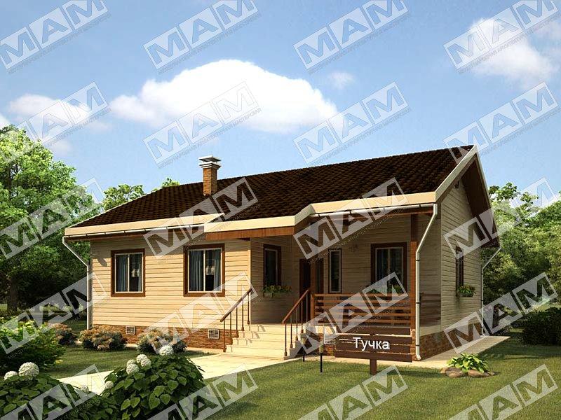 Proiect de Casa cu parter din lemn 377