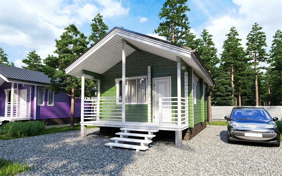 Proiect de Casa cu parter din lemn 321