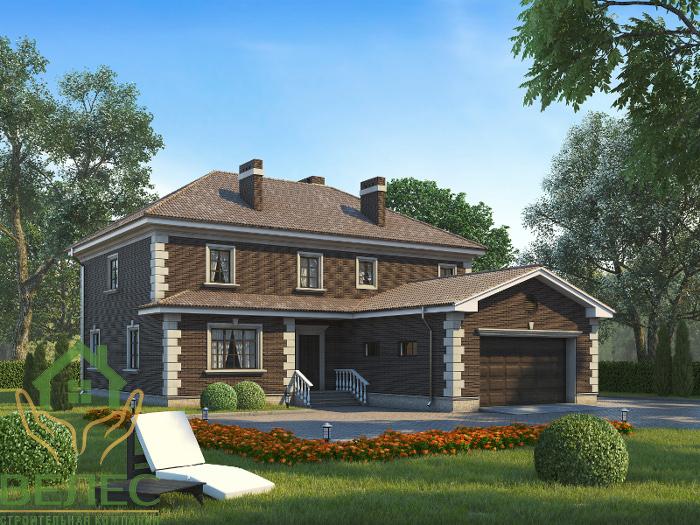 Proiect de Casa cu etaj si garaj 318