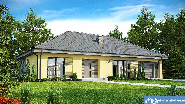 Proiect de casa cu parter si garaj 301 proiectari si for Case parter