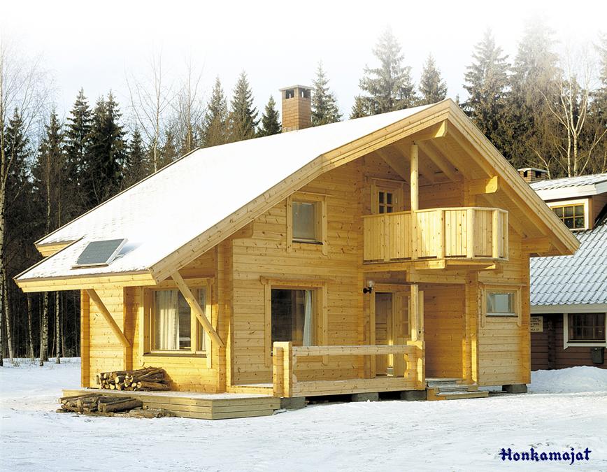 Proiect de Casa cu mansarda din lemn 345