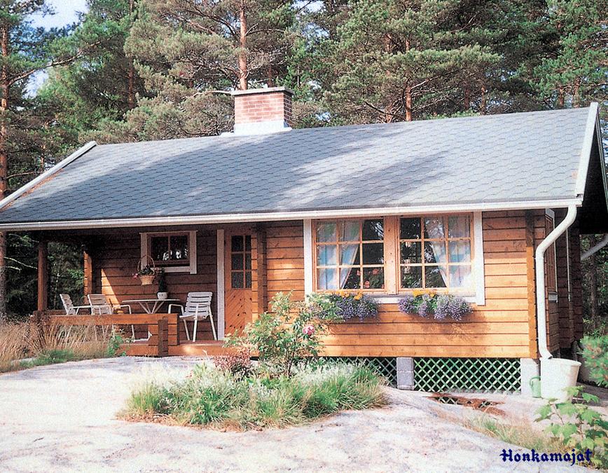 Proiect de Casa cu parter din lemn 328