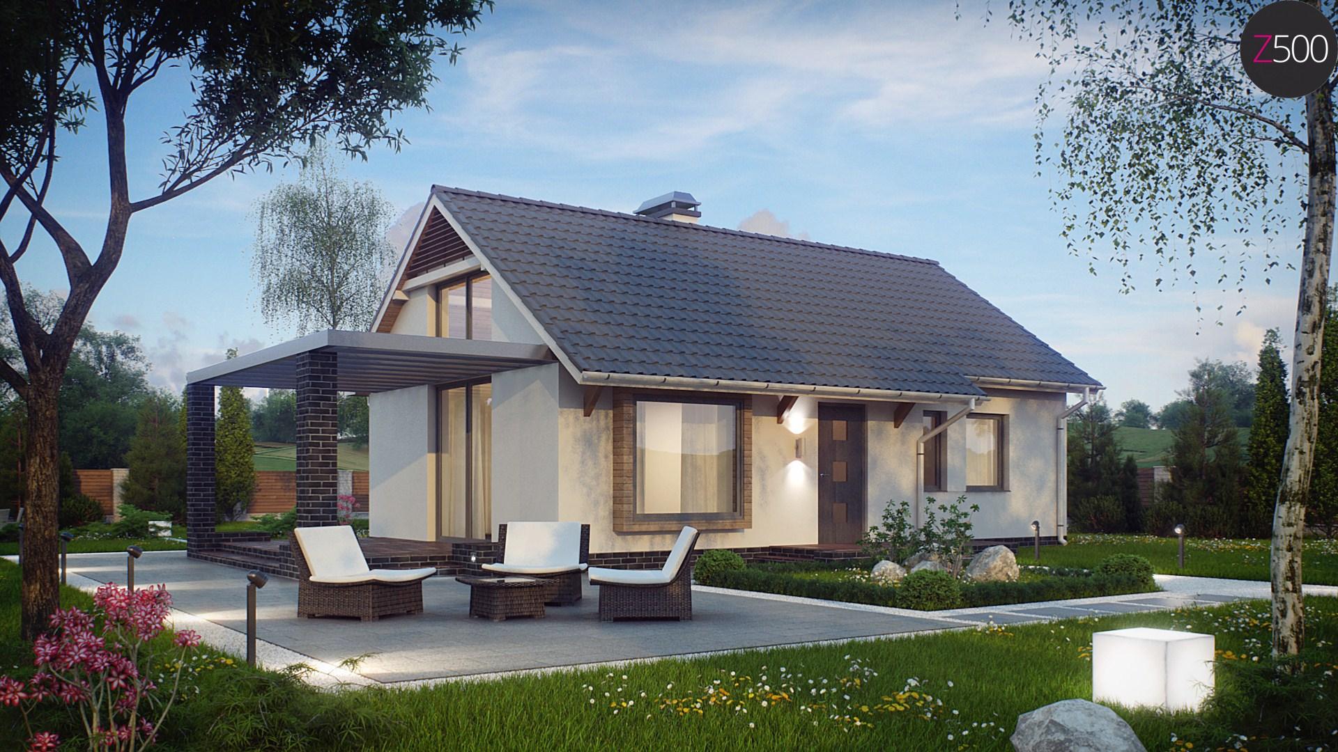 Proiect de Casa cu parter si mansarda 329