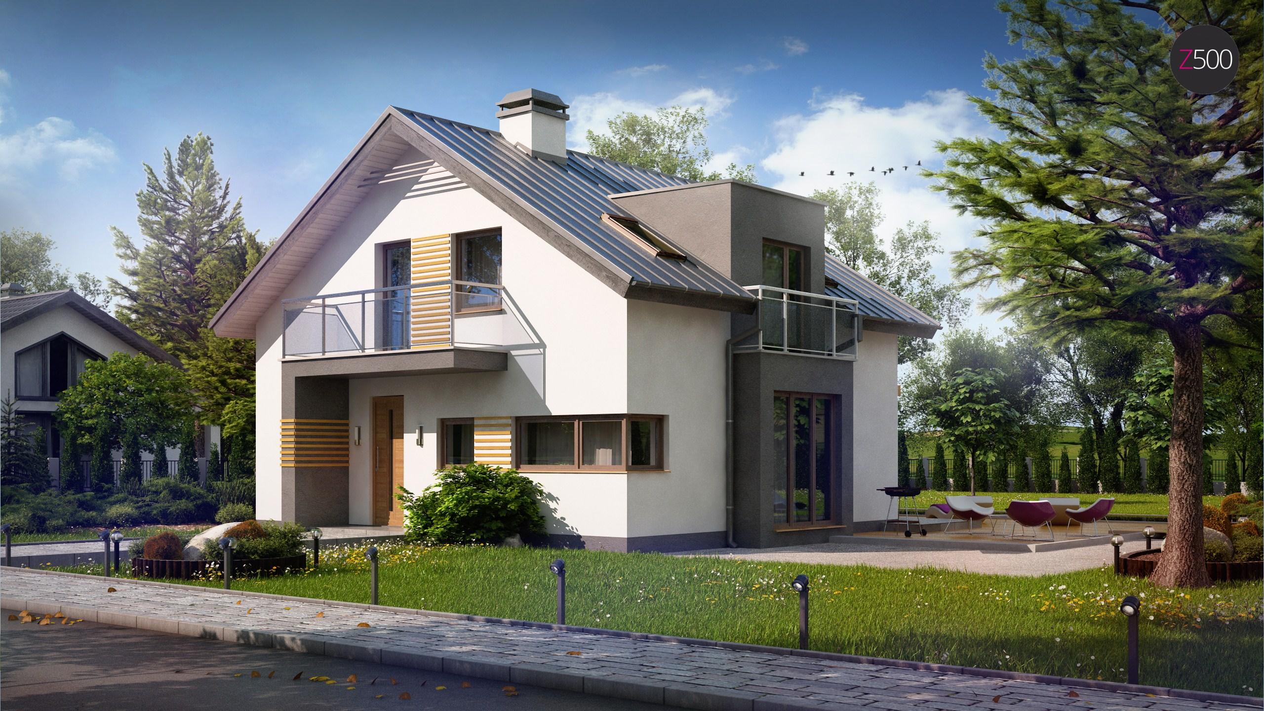 Proiect de Casa cu mansarda 308
