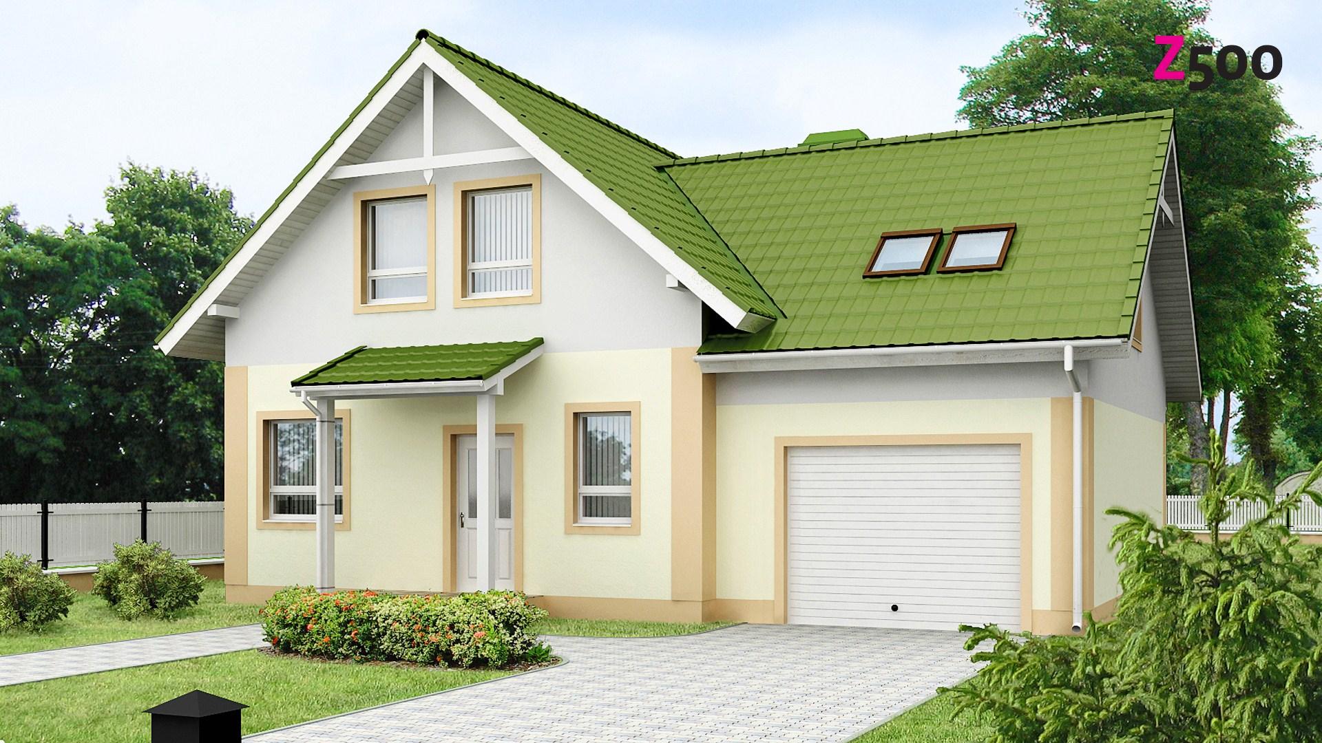 Proiect de Casa cu mansarda si garaj 311