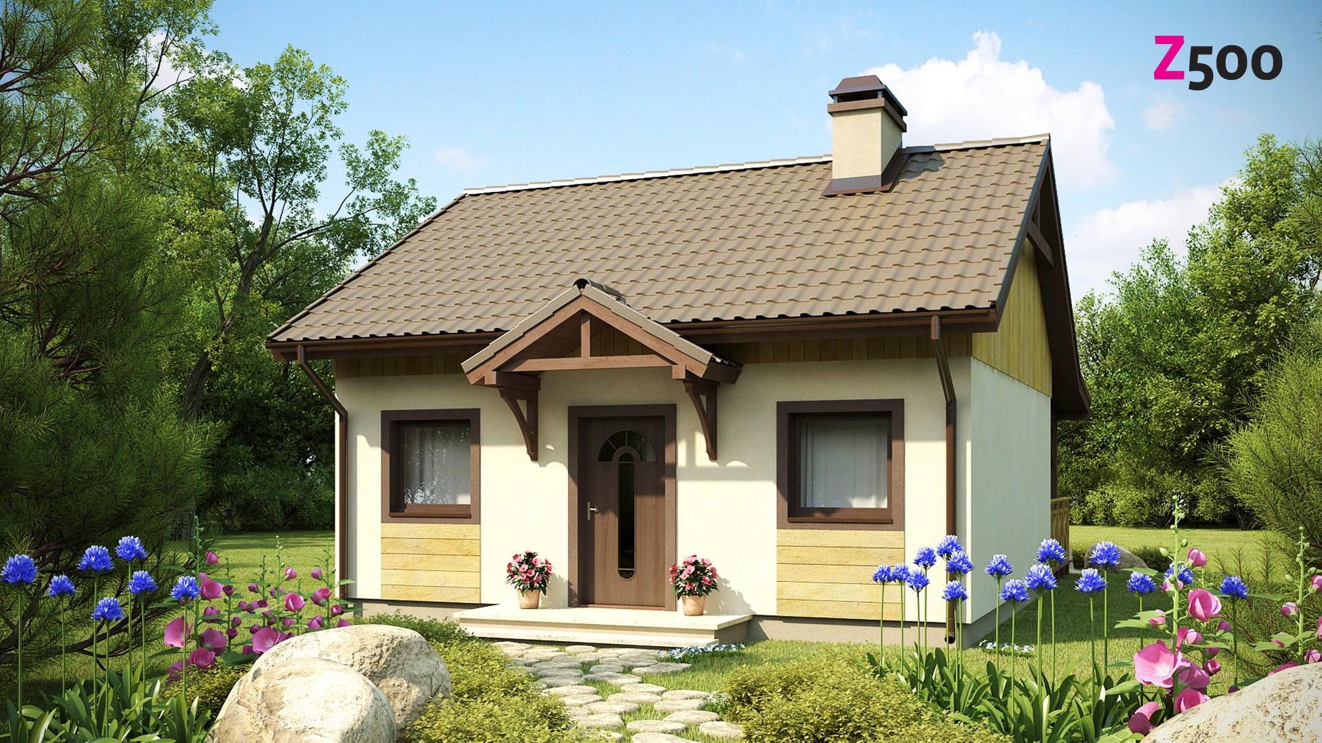 Proiect de Casa cu parter din lemn 323