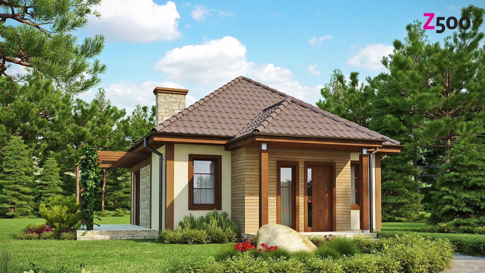 Proiect de Casa cu parter dnin lemn 324